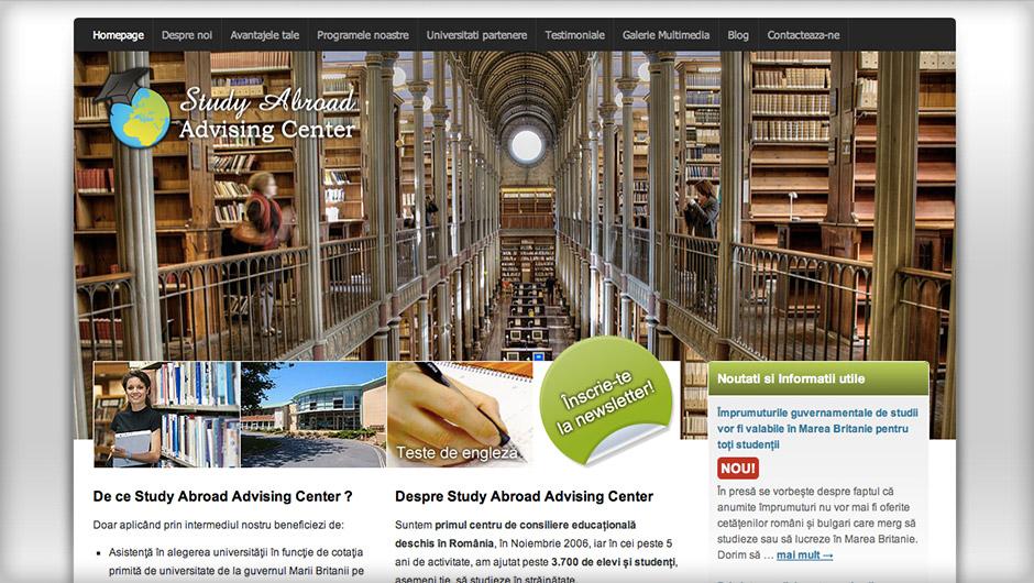 Screenshots of Education Abroad
