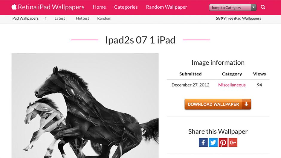 Screenshots of iPad Wallpapers